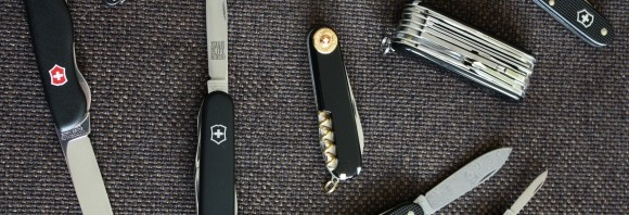 Black Victorinox Swiss Army Knives