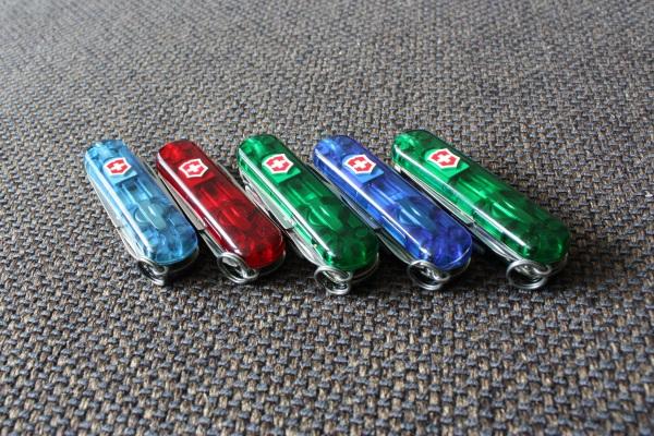 Translucent 58mm Victorinox knives